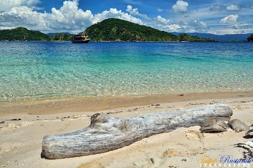 At Bidadari island, Flores