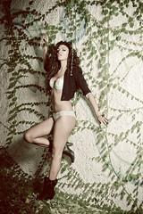 Attitude (Marco Arbani) Tags: portrait woman sexy girl fashion wall pose 50mm model glamour nikon flash moda posing ivy lingerie heels flashlight ritratto strobe cls lastolite intimo edera posa modella tacchi strobist ezybox arbani d7000 marcoarbani