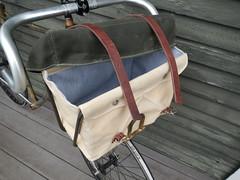 With Cover (guidedbybicycle) Tags: bicycle bag handmade rando front rack custom randonnee randonneuring