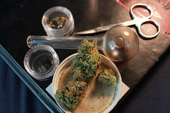(MentalExpansion) Tags: black glass book amber weed pipe oil wax diablo hash kryptonite dank marajuana concentrate kush nugs glasspipe prop215