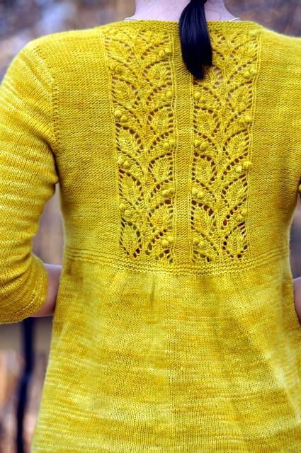 Rocio露珠-墨绿色长款开衫 - Tina - Tina的手工编织的博客