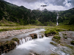 The Amphitheater (andywon) Tags: mountains alps nature water clouds river landscape austria tirol waterfall sterreich rocks stream stubaital neustift sulzenauhtte sulzenaualm