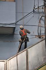 Fassadenarbeiten in Lanzhou - Zentralchina