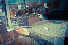(eyematter) Tags: restaurant empty panasonic tables eastbourne 20mm eastsussex reserved fishchips f17 gf1