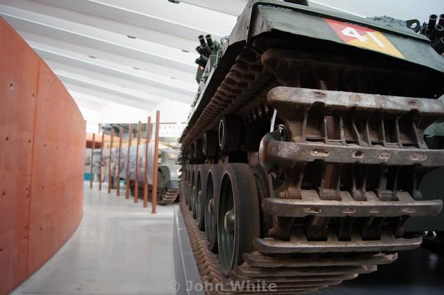 Tracks of a Centurion Tank