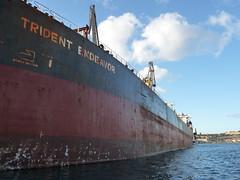 old greek oil tanker (seanofselby) Tags: mediterranean malta oil tanker