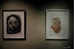 The Outsiders (annar_50) Tags: street london art greek head soho urbanart study charcoal oil outsiders lazarides anotonymicallef