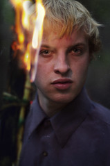 Lynch. (David Talley) Tags: lighting portrait up closeup fire close flames story burning flame torch fiery inception