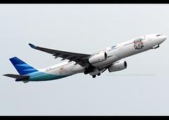 Airbus | A330-341 | Garuda Indonesia | FC Liverpool | PK-GPA | Hong Kong | HKG | VHHH