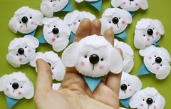 Lembrancinhas (Meia Tigela flickr) Tags: dog baby lembrança handmade artesanato artesanal craft mimo felt cachorro bebê feltro chá cachorrinho lembrancinha fralda