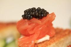 Smoked Salmon, Créme Fraîche, Osetra Caviar
