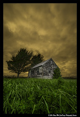 Forgotten (SounDesign Photography) Tags: county sunset ohio sky house color tree green abandoned beautiful grass clouds property forgotten magical hardin