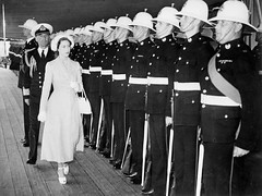 Princess Margaret & Captain Parham inspecting the Royal Marine guard of honour onboard HMS Vanguard whilst docked in Venice, Italy, 22nd May 1949. [800x599] #HistoryPorn #history #retro http://ift.tt/1WIARIV (Histolines) Tags: venice italy history marine princess guard may royal retro captain margaret timeline docked whilst onboard 1949 vanguard parham 22nd honour hms inspecting vinatage historyporn 800x599 histolines httpifttt1wiariv