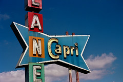 (AbandonedRoadWarrior) Tags: ohio sign century vintage capri rust bowling googie mid lanes