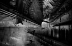 ...sometimesnowhere...  [explored 14, mai 2016] (ines_maria) Tags: light urban bw monochrome contrast subway exposure noiretblanc double u1 icm