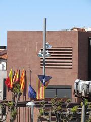 Gelida (Eduardo Gonzlez Palomar) Tags: barcelona alt catalonia bandera catalunya alto catalua ayuntamiento peneds estelada fanatismo gelida peneds independentismo