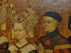 1445-1449 - 'family of Jean Jouvenel (Juvnal) des Ursins' ((circle of the) Master of the Munich Golden Legend?), Cathdrale Notre-Dame, Paris, Muse de Cluny, Paris, France (roelipilami) Tags: 1445 1449 family jean jouvenel des ursins juvenal cathedrale cathedral notre dame paris parijs parigi master munich golden legend maitre legende doree meister mnchner legenda aurea meester van gouden muse museo cluny museum armet sallet great bascinet surcoat surcotte tabard tabart votif votive panel painting armor armour rstung harnas prayer wrapper visor vizier gilded mail standard collar straps
