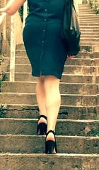 upstairs (Oneras) Tags: cute sexy ass highheels legs candid leg wife calf milf calves piernas estitxu