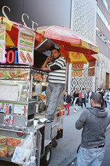 (Levi Mandel (@levimandel)) Tags: 35mm film scan hotdog cart man broken gothamist funny street manhattan nyc newyork ny