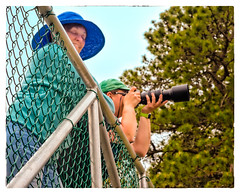 Birding (Timothy Valentine) Tags: camera family hat fence massachusetts large bourne friday 0516 2016 trusteesofreservations lymanreserve