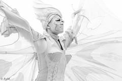 Almost like an angel (Ramireziblog) Tags: street woman white girl angel canon heaven artist performance streetartist winged 6d school7