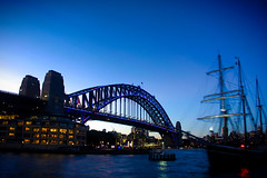 Tall ships (rachFNQ) Tags: nightphotography blur night movement ship harbour yacht sydney australia nsw sail tallships sydneyharbour sydneyharbourbridge
