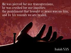 Isaiah 53:5 (joshtinpowers) Tags: bible isaiah scripture
