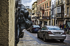 The wall lion (Ignacio M. Jimnez) Tags: street espaa wall pared calle spain lion andalucia leon jaen andalusia ubeda