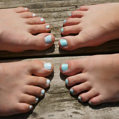 vernis a ongles bleu (jlp771) Tags: feet sony nails pied a6000