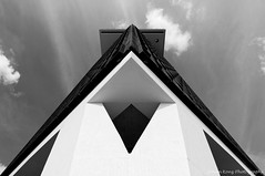 The A'DAM tower I (Johan Konz) Tags: bw adamtower outlook ijriver amsterdamnoord netherlands architecture buildings offices outdoor nikon d90 blackandwhite monochrome diagonal triangle abstract minimalism skyline cityscape