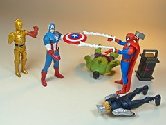 Takara Tomy  Metal Collection (Metacolle) Marvel and Star Wras Diecast Figures Series  Master Steve! That Spidey collects EVERYTHING!! (My Toy Museum) Tags: man metal america star spider spiderman collection captain wars hulk thor marvel takara tomy c3po diecast metacolle
