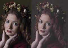 Antes y despues (So Sujodolski) Tags: flowers art beauty canon retrato fine fotografia retouching retoque