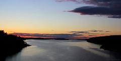 Summer night, archipelago & sea (Joni Mansikka) Tags: trees sea summer nature june night suomi finland landscape colours outdoor dusk silhouettes balticsea archipelago naantali