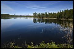 Lake in sweden (Arnaud Huc) Tags: blue sky lake water colors nikon eau europe sweden couleurs lac bleu ciel calme 1685 jamtland d5100 arnaudhuc