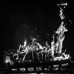 Burning (Mabry Campbell) Tags: november blackandwhite usa hot fire photography 50mm photo dallas fireplace texas photographer image fav50 unitedstatesofamerica fav20 f16 burning flame photograph infrared 100 fav30 squarecrop fineartphotography 2014 fav10 720nm fav40 fav60 fav70 ef50mmf12lusm fineartphotographer houstonphotographer sec mabrycampbell november152014 20141115img7780