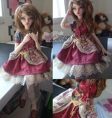 Vicky (Aurora Unicorn) Tags: dress aurora bjd unicorn fairyland faceup minifee rheia