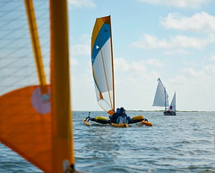 The Chase is On (chadbach) Tags: ocean water island bay boat sailing texas adventure 200 sail tandem hobie 2016