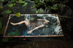 Aquarius (alexis mire) Tags: selfportrait home water girl reflections print pond underwater glossy frame series plexiglass selfportraittherapy alexismire nativeheartisland
