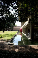 Squeezing into or out of the moat? (Belinda Ireland) Tags: festival visualarts australia perth piaf uwa redballproject reidlibrary kurtperschke