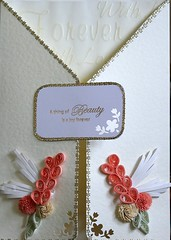 Wedding/ Anniversary card (yorkshirelass49) Tags: wedding handmade anniversary handcrafted papercraft filigree quilling paperstrips