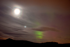 Moon, Venus, Jupiter and Aurora (quayman) Tags: scotland aberdeenshire aurora february northernlights 27th 2012 aberdenshire chapelofgarioch