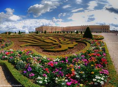 gardens of versailles (Rex Montalban Photography) Tags: paris france europe versailles hdr palaceofversailles photomatix stitchedpanorama rexmontalbanphotography pse9 photoshopelements9
