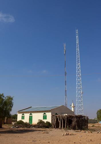 Antenna And Minaret In Baligubadle Somaliland