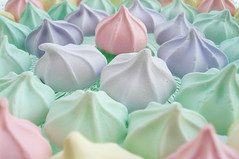 Pastel Meringues (such pretty things) Tags: green glass cake stand pastel pedestal meringues