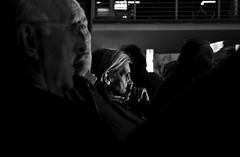 A saber qué.... (MarcosJzMz) Tags: madrid people blackandwhite bw woman byn blancoynegro contrast mujer gente vieja recuerdo vida contraste pensar estación atocha pensamiento trama oscura viejos pensativa tramar