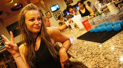 Beauty and the Drinks (hmerinomx) Tags: california santa travel blue hot sexy tourism girl beautiful azul bar night mexico hotel noche mujer cabo san chica interior indoor babe lucas blond drinks rubia sur baja bella fe turismo hermosa riu bebidas riusantafe