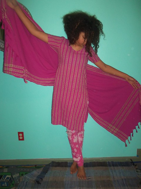 Ahh...love that pink. Are those saree pants, Miss???