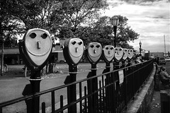 New York (luca marella) Tags: street city travel urban usa white film composition america blackwhite luca manhattan united binoculars balck e states bianco nero analogic marella marellaluca