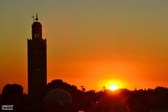 Koutoubia Mosque sunset (J.ACIM Photography) Tags: africa sunset silhouette clouds muslim islam religion culture belief mosque morocco marrakech medina ritual crepuscular koutoubia