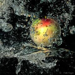 Replenish (Patti-Jo) Tags: apple water macintosh 50mm flash sb600 bubbles splash odc d300s ourdailychallenge